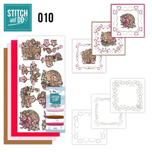 Stitch en Do Set 10 - Yvonne Creations - Moederdag - STDO010