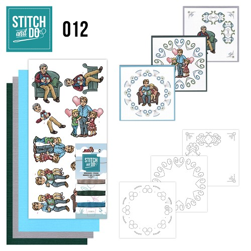 Stitch en Do Set 12 - Yvonne Creations - Vaderdag  - STDO012