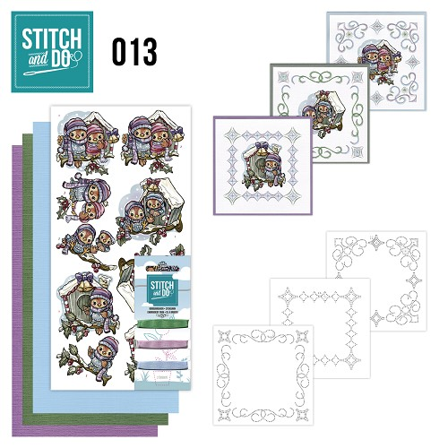 Stitch en Do Set 13 - Yvonne Creations - Vogelhuisjes  - STDO013