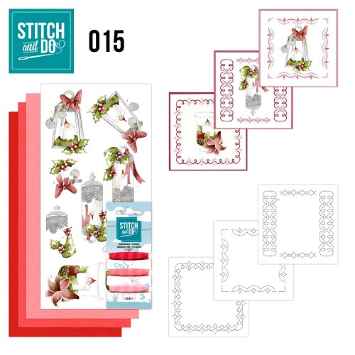 Stitch en Do Set 15 - Precious Marieke - Kaarsen - STDO015