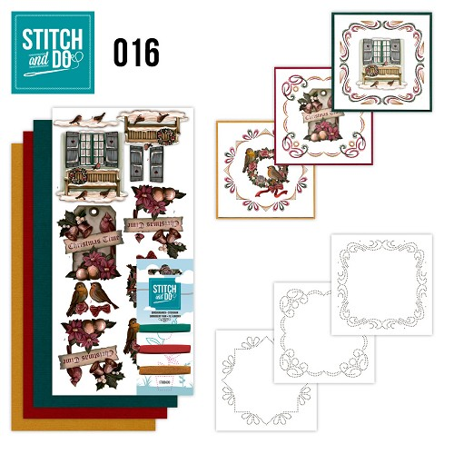 Stitch en Do Set 16 - Amy Design - Brocante Kerst - STDO016