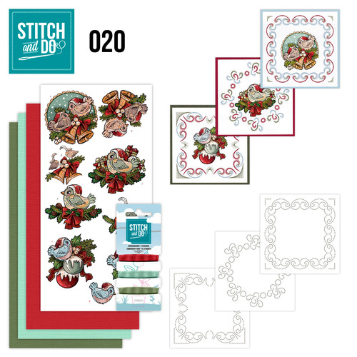 Stitch en Do Set 20 - Yvonne Creations - Christmas Tweety