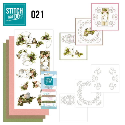 Stitch en Do Set 21 - Precious Marieke - Rustic Christmas - STDO021