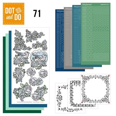 Hobbydots - Dot en Do Set 71 - Yvonne Creations - Flowers - Dodo-071