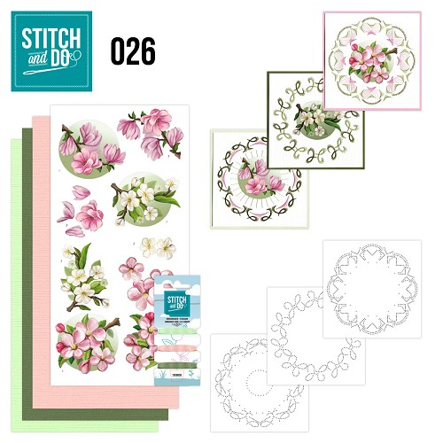 Stitch and Do Set 26 - Spring Flowers - Amy Design - Stdo026