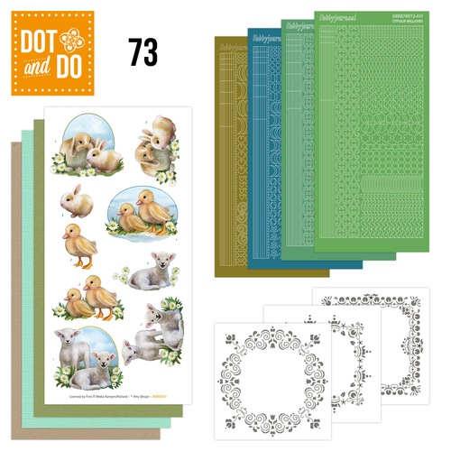 Hobbydots - Dot and Do 73 - Young Animals - Amy Design - DODO073