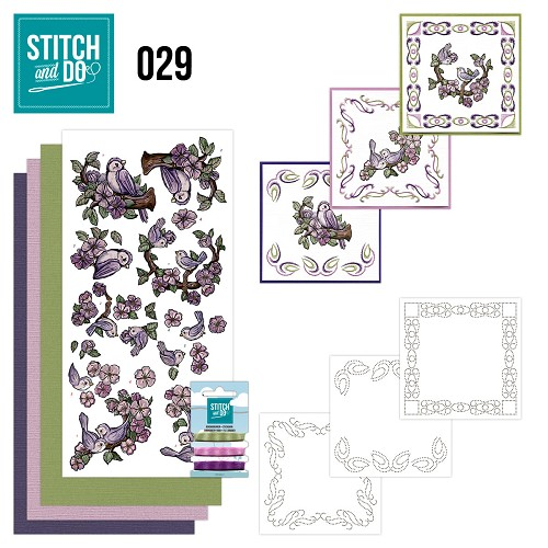Stitch and Do 29 - Birds - Yvonne Creations - Stdo029