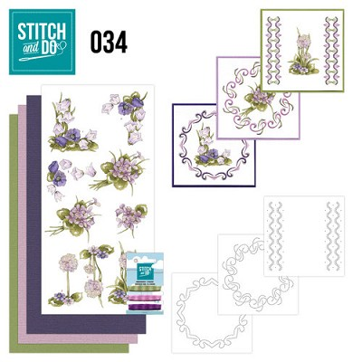 Stitch and Do Set 34 - Field Flowers - Precious Marieke - Stdo034