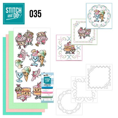 Stitch and Do Set 35 - Cupcakes - Yvonne Creations - Stdo035