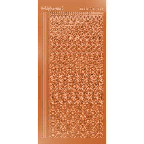 Hobbydots - Stickervel - Mirror Copper - Serie 19 (stdm19B)