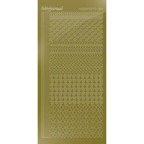 Hobbydots - Stickervel - Mirror Gold - Serie 19 (stdm197)