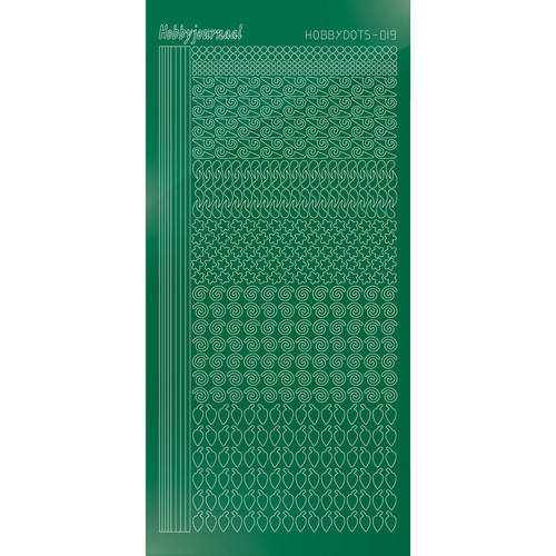 Hobbydots - Stickervel - Mirror Green - Serie 19 (stdm192)
