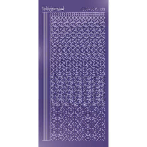 Hobbydots - Stickervel - Mirror Purple - Serie 19 (stdm199)