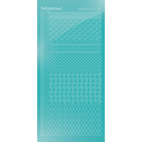 Hobbydots Serie 19 - Stickervel - Mirror Emerald