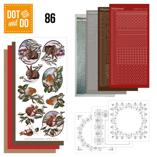 Dot and Do 86 - Dieren in de sneeuw - Amy Design - Dodo086