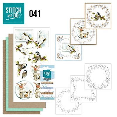 Stitch and Do 41- Kerstvogeltjes - Precious Marieke - Stdo041