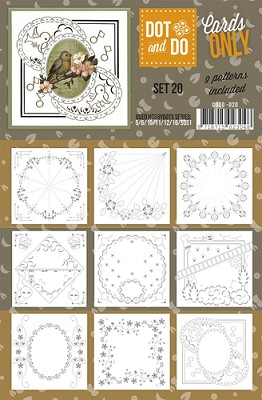 Hobbydots - Dot & Do - Cards Only - Oplegkaarten - Set 20
