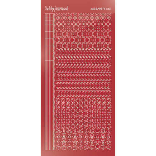 Hobbydots - Stickervel - Mirror Christmas Red - Serie 16 (stdm16H)
