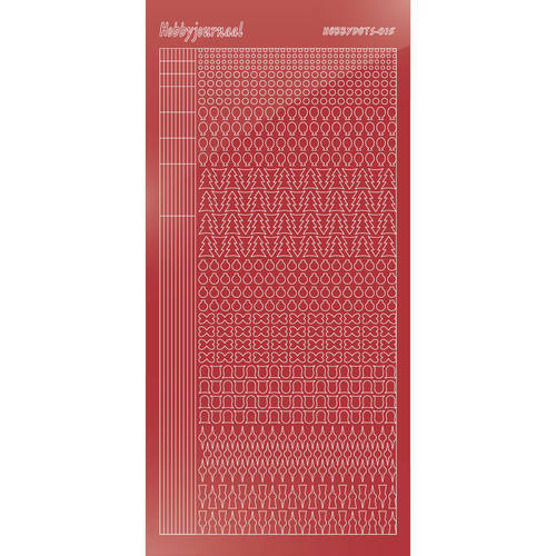 Hobbydots - Mirror Christmas Red - Serie 15 (stdm15H)