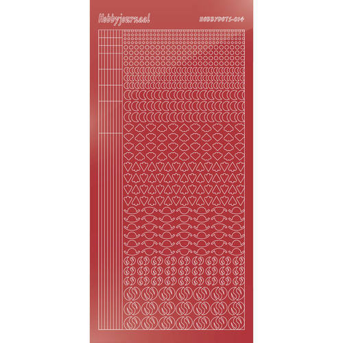 Hobbydots - Mirror Christmas Red - Serie 14 (stdm14H)
