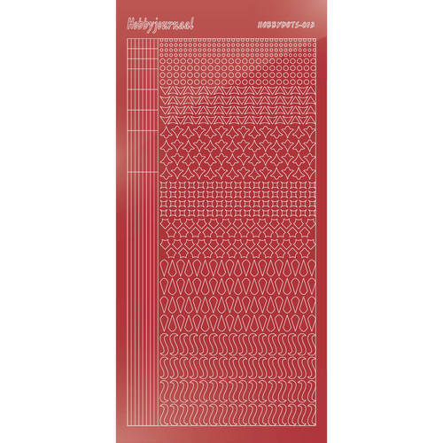 Hobbydots - Mirror Christmas Red - Serie 13 (stdm13H)