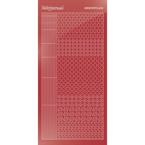 Hobbydots - Mirror Christmas Red - Serie 10 (stdm10H)