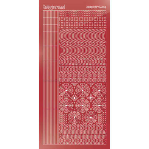 Hobbydots - Mirror Christmas Red - Serie 6 (stdm06H)