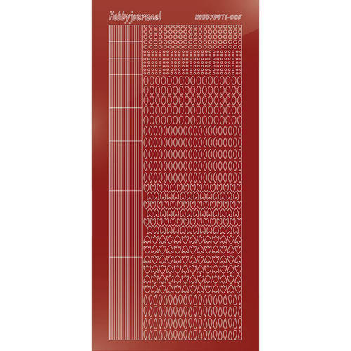 Hobbydots - Mirror Christmas Red - Serie 5 (stdm05H)