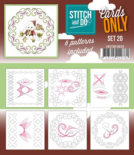 Stitch & Do - Cards only - Set 20 - Costdo10020