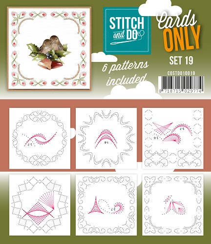 Stitch & Do - Cards only - Set 19 - Costdo10019