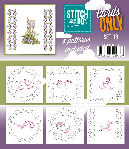 Stitch & Do - Cards only - Set 18 - Costdo10018