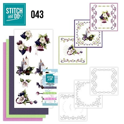Stitch and Do 43- Purple Colored Christmas - Precious Marieke - Stdo043