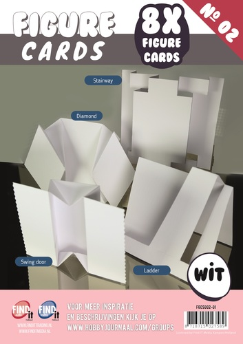 Figure Cards - Boek 2 - Wit - FGCS002-01