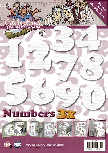Layered Cards - Number Book - Wit - YCLC10001
