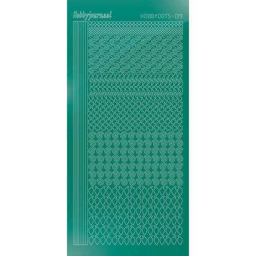 Hobbydots - Stickervel - Mirror Christmas Green - Serie 19 (stdm19J)