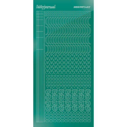 Hobbydots - Stickervel - Mirror Christmas Green - Serie 17 (stdm17J)