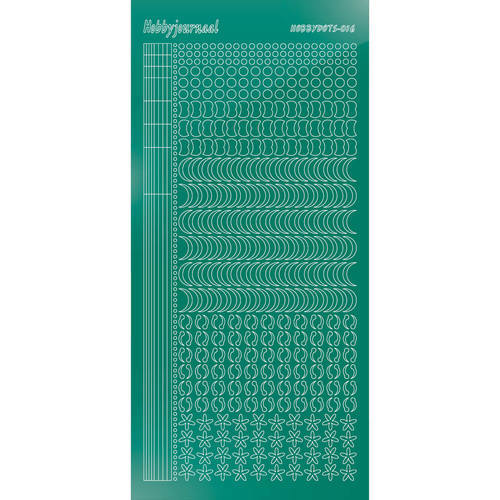 Hobbydots - Stickervel - Mirror Christmas Green - Serie 16 (stdm16J)