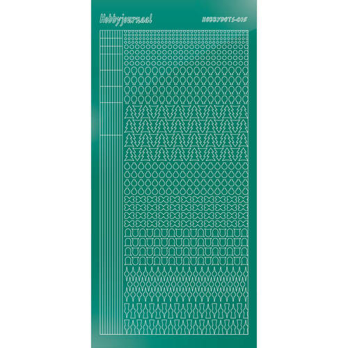 Hobbydots - Stickervel - Mirror Christmas Green - Serie 15 (stdm15J)