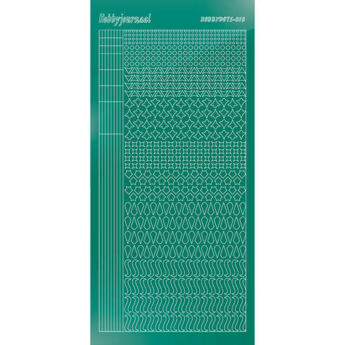 Hobbydots - Stickervel - Mirror Christmas Green - Serie 13 (stdm13J)