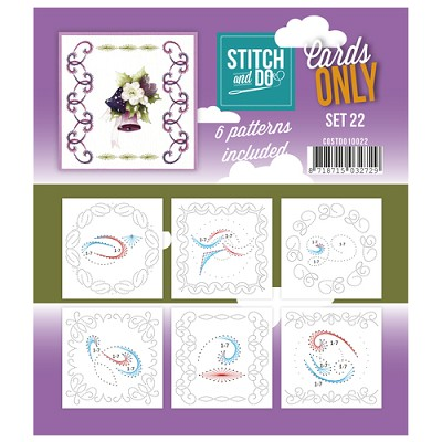 Stitch & Do - Cards only - Set 22 - Costdo10022