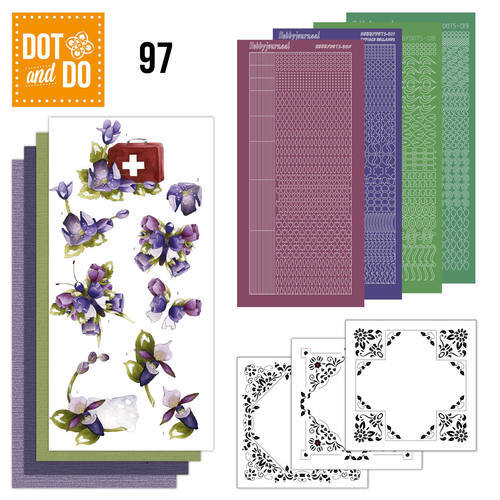 Dot and Do 97 - Purple Flowers - Precious Marieke - Dodo097