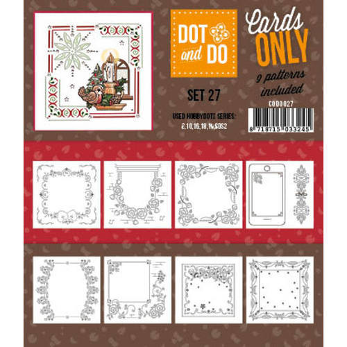 Hobbydots - Dot & Do - Cards Only - Oplegkaarten - Set 27