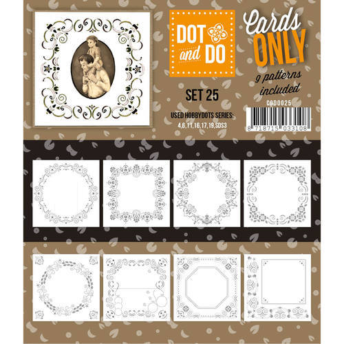 Hobbydots - Dot & Do - Cards Only - Oplegkaarten - Set 25