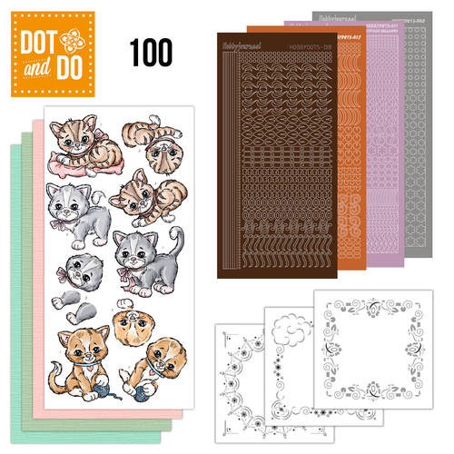 Dot and Do 100 - Katten / Poezen - Yvonne Creations - Dodo100