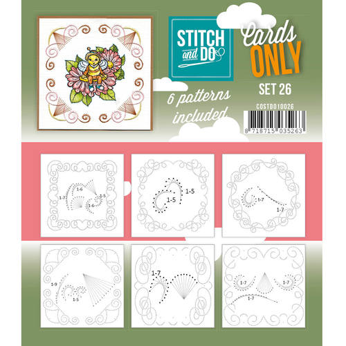 Stitch & Do - Cards only - Set 26 - Costdo10026