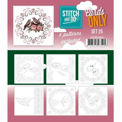 Stitch & Do - Cards only - Set 25 - Costdo10025