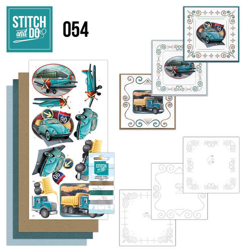 Stitch and Do 54 - Vintage Vehicles - Amy Design - STDO054