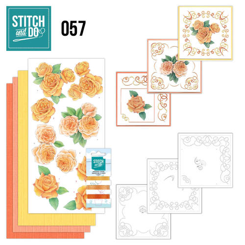 Stitch and Do 57 - Oranje rozen - STDO057