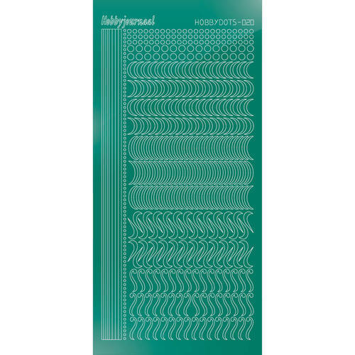 Hobbydots - Stickervel - Mirror Christmas Green - Serie 20 (stdm20J)