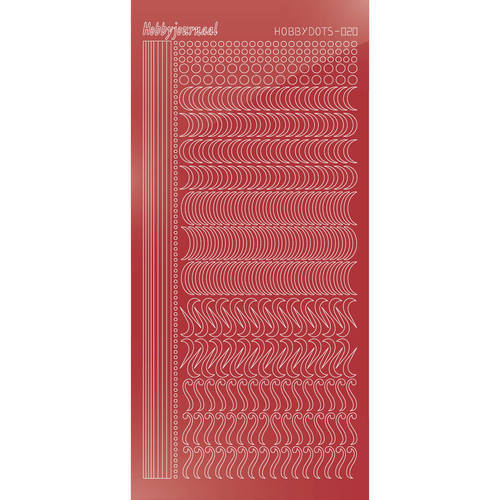 Hobbydots Serie 20 - Stickervel - Mirror Christmas Red - (stdm20H)